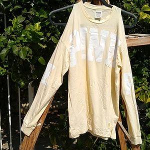 PINK Long Sleeve Cold Shoulder T-Shirt XS